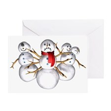 Snow Monsters Greeting Card