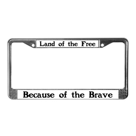 Land of the Free License Plate Frame