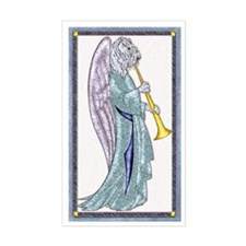Kerry Blue Peace Angel Rectangle Decal