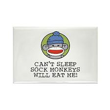 Funny Sock Monkey Rectangle Magnet