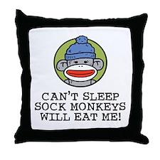 Funny Sock Monkey Throw Pillow