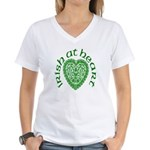 'Irish at Heart' Women's V-Neck T-Shirt