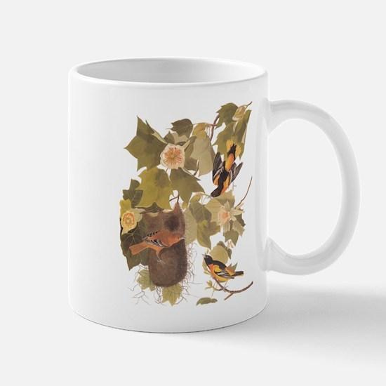 Baltimore Oriole Birds with Nest Audubon Vint Mugs