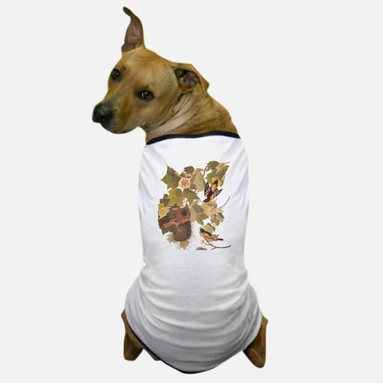 Baltimore Oriole Birds with Nest Audub Dog T-Shirt