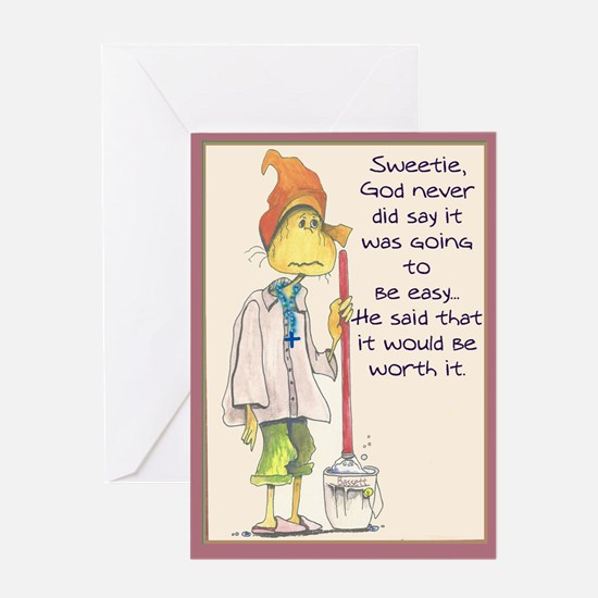 MAIDladyMESSAGEfrom GOD Greeting Cards