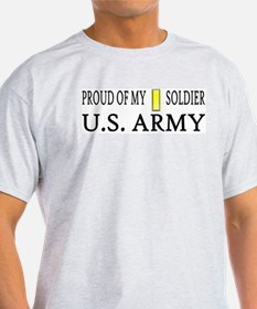 2LT - Proud of my soldier Ash Grey T-Shirt