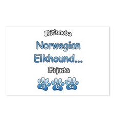 Elkhound Not Postcards (Package of 8)