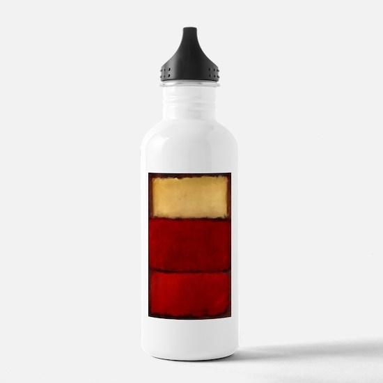ROTHKO MAROON RED BEIGE Water Bottle