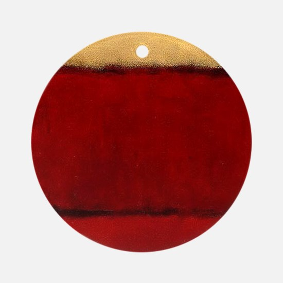 ROTHKO MAROON RED BEIGE Round Ornament