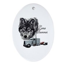 Lone Runner Oval Ornament