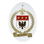 JEANSONNE Family Crest Oval Ornament