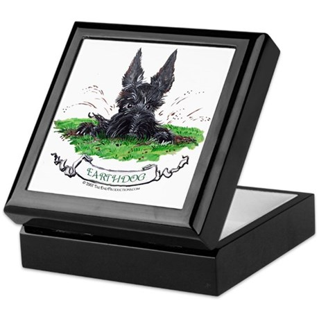 Scottish Terrier Earthdog Keepsake Box
