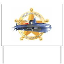 USS Texas 775 Yard Sign