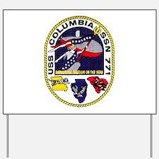 USS Columbia SSN 771 Yard Sign