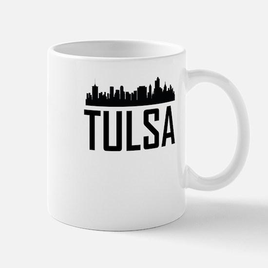 Skyline of Tulsa OK Mugs