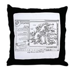 Throw Pillow with webdrawing