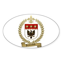 JEANSONNE Family Crest Oval Decal