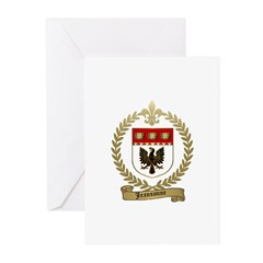JEANSONNE Family Crest Greeting Cards (Pk of 20)