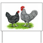 Marans Rooster and Hen Yard Sign
