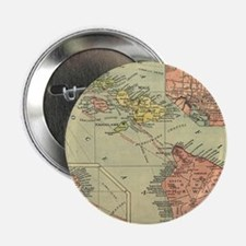 "Vintage Map of Hawaii (191 2.25"" Button (100 pack)"