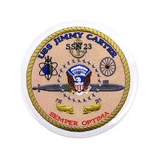 """USS Jimmy Carter SSN 23 3.5"""" Button"""