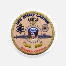 "USS Jimmy Carter SSN 23 3.5"" Button"