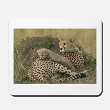 CHEETAH FAMILY IN THE MARA Mousepad
