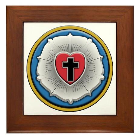 Lutheran Rose Framed Tile