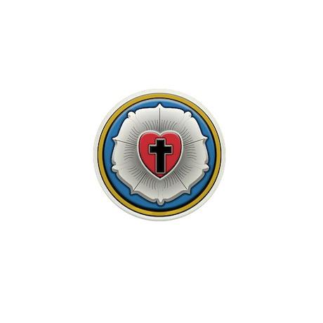 Lutheran Rose Mini Button (100 pack)