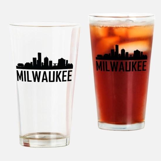 Skyline of Milwaukee WI Drinking Glass