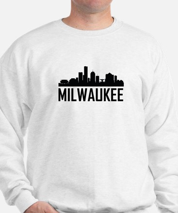 Skyline of Milwaukee WI Sweatshirt