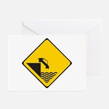 Car driving off dock Greeting Cards (Pk of 10)