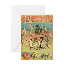 Dancing Dogs Greeting Card