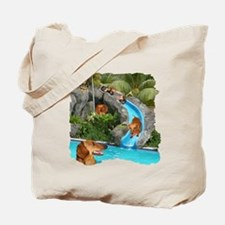 Summer Water Dachshunds Dogs Tote Bag