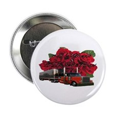 "18 Wheels & A Dozen Roses 2.25"" Button"