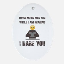 Cute Reader Oval Ornament