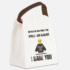 Cute Reader Canvas Lunch Bag