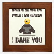 Funny Reader Framed Tile