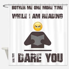 Cute The book worm Shower Curtain