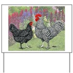 Marans Chickens Yard Sign