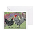 Marans Chickens Greeting Card