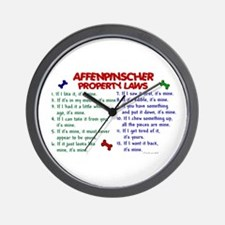 Affenpinscher Property Laws Wall Clock