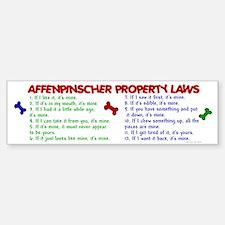 Affenpinscher Property Laws Bumper Bumper Sticker