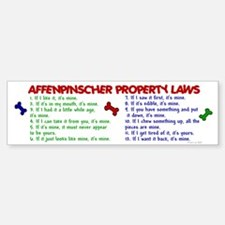 Affenpinscher Property Laws Sticker (Bumper)
