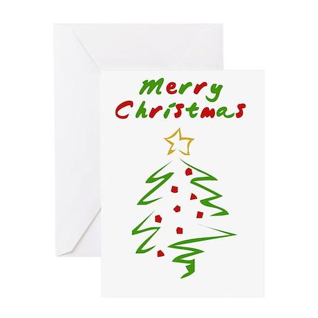 Brushed Christmas Greeting Card