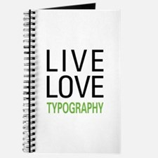 Live Love Typography Journal