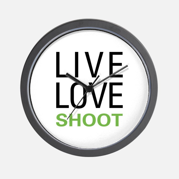 Live Love Shoot Wall Clock
