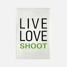 Live Love Shoot Rectangle Magnet