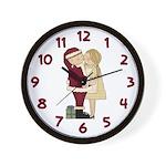 I Saw Mommy Wall Clock