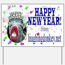 Unique Laughing donkey Yard Sign